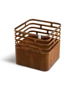 Höfats: Fire Basket Cube Rust Optics