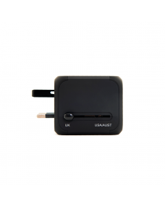 Gate8 Travel Universal Adaptor with USB charger
