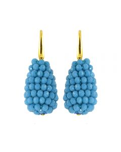 Miccy's Small crystal drops earrings