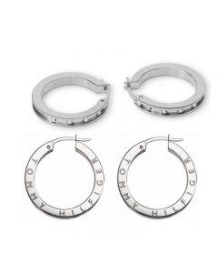 Tommy Hilfiger  Stainless Steel Hoop Earrings