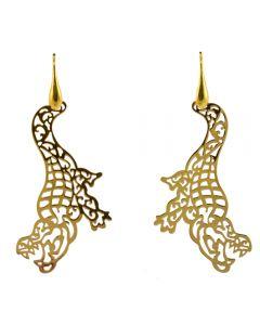 Miccy's Golden Crocodile earrings