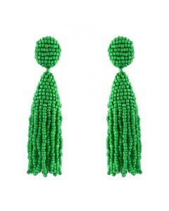 Miccy's Green tassel earrings
