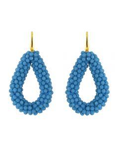 Miccy's open crystal drops earrings