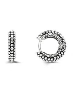 Ti Sento Hoop Earrings With Sterling Silver Bubbles Pattern