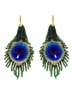 Miccy's Peacock Patchart earrings