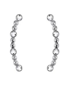 Tommy Hilfiger Silver Embellished Ear-Crawler Earrings
