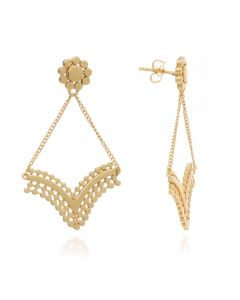 Azuni Etrusca V-Shaped Earrings with Chain