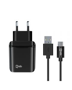 BeHello Travel Quick Charge 3.0  Charger  USB + USB C Cable