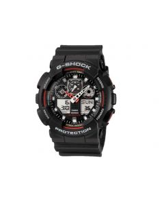 Casio G-Shock watch black with red and white features