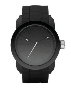 Diesel Double Down Black Silicone Watch