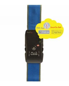 SmartGo Smart Belt Bluetooth Luggage Belt (IOS & Android) TSA combination lock Blue