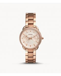 Fossil Tailor Multifunction Rose Gold Tone Stainless Steel Watch