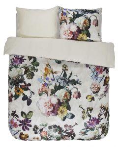 Essenza Luxurious Fleur 100%  Satin/Cotton Luxery Duvet Cover Ecru