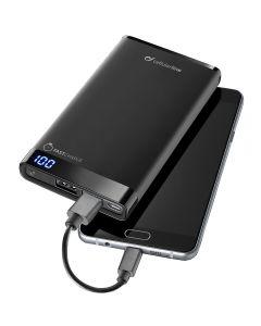 Cellular Powerbank Slim Led 12000 Mah Bk