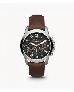 Fossil Grant Chronograph Brown Leather Watch (FS4813)