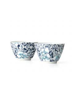 Bredemeijer Yantai Dark-Blue Tea Cups, Set of 2