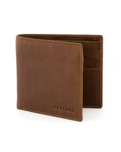 Gryphen Two Fold Leather Wallet - BROWN