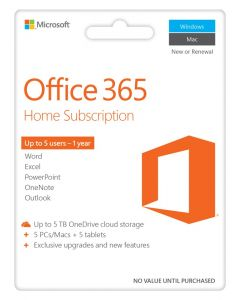 Microsoft Office 365 Home Premium - 5 Devices/1 Year