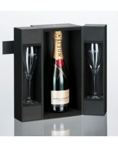 Moët & Chandon Brut Champagne With 2 Glasses