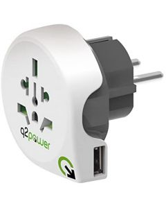 Q2Power - World to EU with USB-port