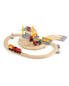Brio Road And Crane Train Set