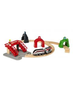 Brio Train Set With Action Tunnels