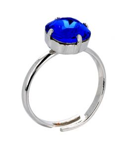 Majestic blue solitaire ring