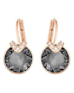 Swarovski Bella Rose Gold Night Earrings