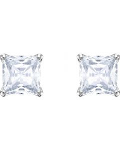 Swarovski Attract Stud Pierced Square Earrings