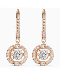 Swarovski New Sparkling Dance Pierced Rose Gold Earrings