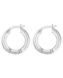Tommy Hilfiger Silver Hoop Earrings