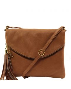 Tuscany Leather Shoulder Bag with Tassel