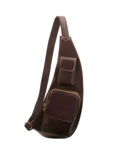 Tuscany Leather Leather crossover bag - Dark Brown