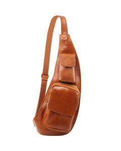 Tuscany Leather Leather crossover bag - Honey