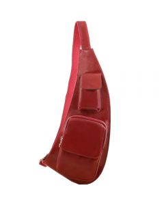 Tuscany Leather Leather crossover bag - Red