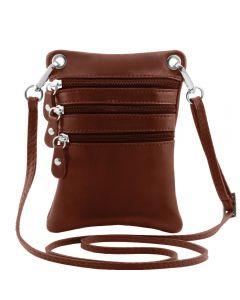 Tuscany Leather TL Bag - Soft leather mini cross bag - Brown