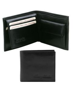 Tuscany Leather 3 Fold Leather Wallet with Coin Pocket
