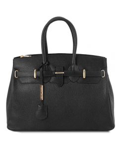 Tuscany Leather Bag with Golden Hardware