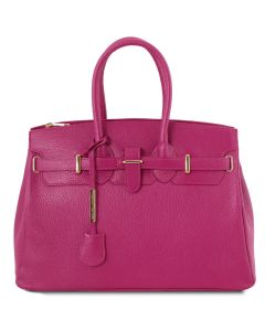 Tuscany Leather Leather Bag with Golden Hardware