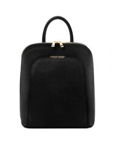 Tuscany Leather TL Bag - Saffiano leather backpack for women - Black