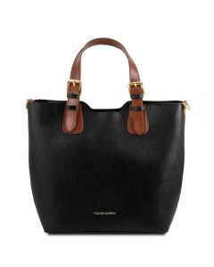Tuscany Leather Saffiano Leather Handbag