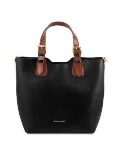 Tuscany Leather Saffiano Leather Tote Bag