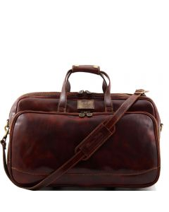 Tuscany Leather Bora Bora Wheeled  Duffle Brown