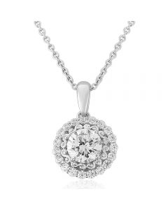 Waterford Crystal Elegance Sterling Silver Circle Pendant