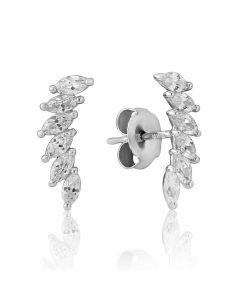 Waterford Crystal Essence Sterling Silver Curved Earrings