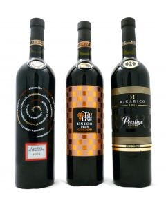 6 bottles of red wine from the Puglia region