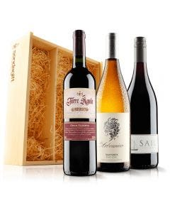 Must Have Mixed Wine Trio in Wooden Gift Box
