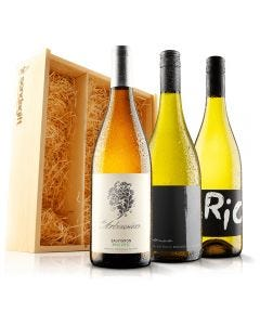 Must Have White Wine Trio in Wooden Gift Box