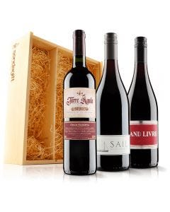 Must Have Red Wine Trio in Wooden Gift Box