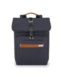 Briggs & Riley Kinzie Street Medium Foldover Backpack Navy